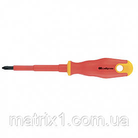 Отвертка диэлектрическая PH0 х 75 мм, CrV, до 1000 В, двухкомпонентная рукоятка Сибртех