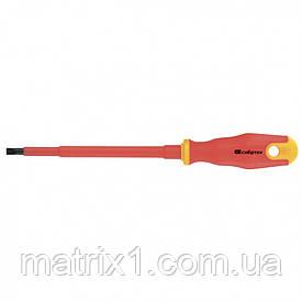 Отвертка диэлектрическая SL6,5 х 150 мм, CrV, до 1000 В, двухкомпонентная рукоятка Сибртех