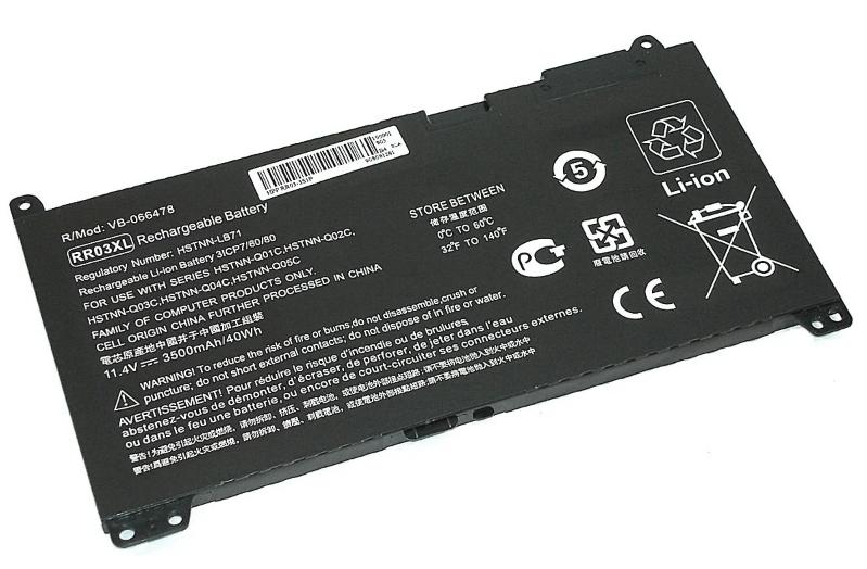 Аккумуляторная батарея HP RR03 RR03XL ProBook 430 440 450 455 470 G4 MT20 HSTNN-UB7C 851477-541 851610-850