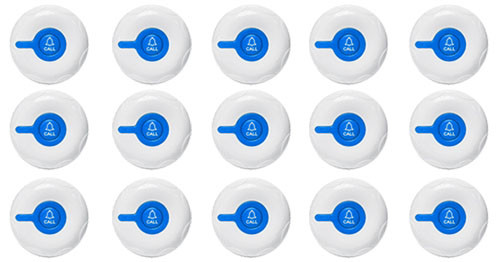 Фото: кнопки вызова персонала RECS R-300 - 15 штук - комплект системы вызова RECS №176