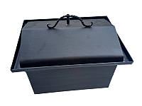 Коптильня горячего копчения, металл, кованные ручки 45 х 33 х 33 см крышка домик, фото 1