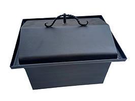 Коптильня горячего копчения, металл, кованные ручки 45 х 33 х 33 см крышка домик