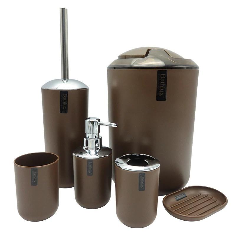 Набор аксессуаров для ванной Bathlux люкс качества , 6 предметов Коричневый