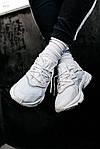 Рефлективні чоловічі кросівки Adidas Ozweego (білі) спортивні весняні кроси 445TP, фото 3