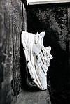 Рефлективні чоловічі кросівки Adidas Ozweego (білі) спортивні весняні кроси 445TP, фото 4