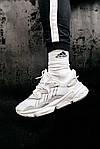 Рефлективні чоловічі кросівки Adidas Ozweego (білі) спортивні весняні кроси 445TP, фото 7