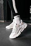 Рефлективні чоловічі кросівки Adidas Ozweego (білі) спортивні весняні кроси 445TP, фото 6