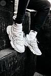 Рефлективні чоловічі кросівки Adidas Ozweego (білі) спортивні весняні кроси 445TP, фото 2