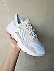 Рефлективні чоловічі кросівки Adidas Ozweego (білі) спортивні весняні кроси 445TP, фото 5