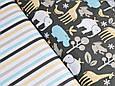 Сатин (хлопковая ткань) полоска цветная (компаньон к Африке) (50*160), фото 3