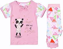 Детская розовая пижама для девочек 1-4 года Minoti 74-104 см
