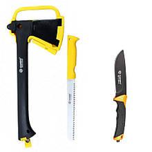 Туристический набор Ganzo топор GSA01-YE + нож G8012