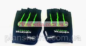 Мотоперчатки YM001-15 (короткі) чорні size L