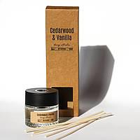 Диффузор ароматический Cedarwood & Vanilla Кедр и ваниль для дома 50 мл Bispol аромадиффузор