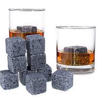 Камені для віскі Whiskey Stones з мішечком в подарунковій коробці 9 шт