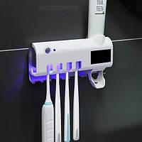 Диспенсер для зубной пасты и щеток автоматический Toothbrush sterilizer W-020 , УФ-стерилизатор, фото 1