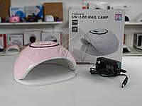 Лампа LED для маникюра, сушки гель-лака SUN F5 72W розовая