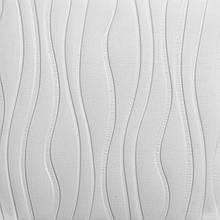 Самоклеющаяся декоративная потолочно-стеновая 3D панель волны 700x700x8мм