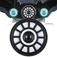 Фари світлодіодні C49 LED 7 дюймів, кругла, 1 шт, 35 Вт (УАЗ, ГАЗ, Камаз, Jeep Nissan, FJ Cruiser, Harley Davidson