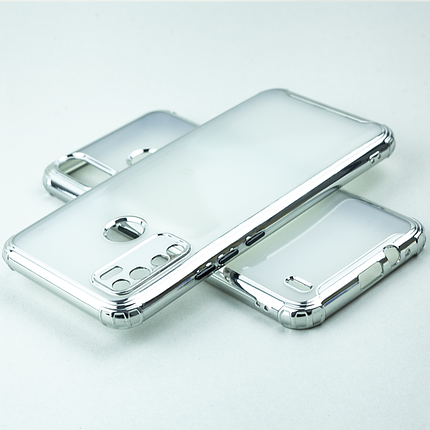 Чехол MiaMI AirBamp Electroplating for Tecno Spark 4 Lite (BB4k) Silver, фото 2