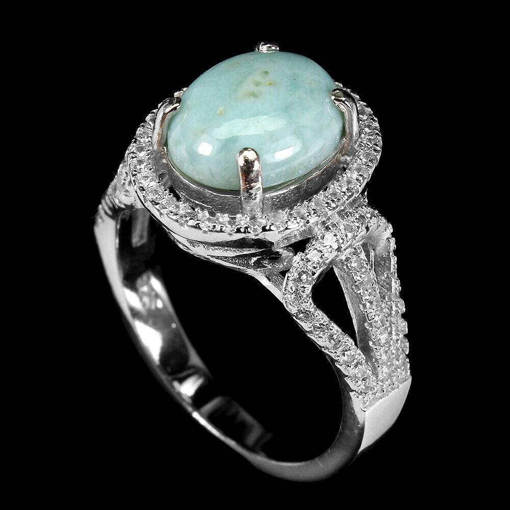 Серебряное кольцо с ларимаром, 2679КЦЛ