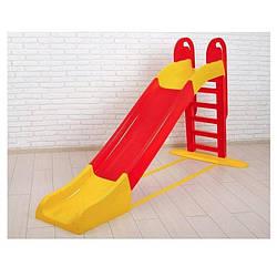 Горка детская пластиковая 243 см Doloni Toys красная