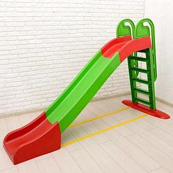 Горка детская пластиковая 243 см Doloni Toys зеленый