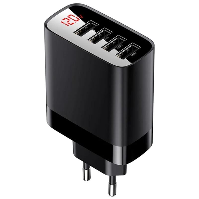 Зарядка Baseus Digital Display 30W 4USB