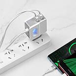 Зарядка Hoco C75 2USB 2.4A + кабель lightning, фото 7