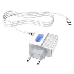 Зарядка Hoco C75 2USB 2.4A + кабель Type-C