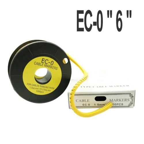 """Кабельная маркировка  (в катушках)  EC-0 """"6"""" (0.75-1.5мм2) 1000шт"""
