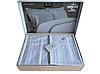 Комплект постільної білизни Maison D'or New Rails White сатин 220-200 см білий