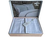 Комплект постільної білизни Maison D'or New Rails White сатин 220-200 см білий, фото 1