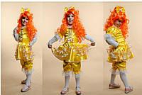 Карнавальный костюм Кукла Куколка желтая