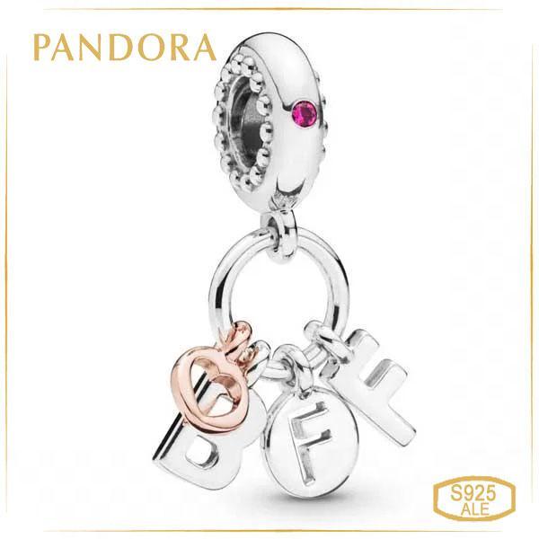 Пандора Шарм Лучшие друзья навсегда Rose Позолота Pandora 788165NCC