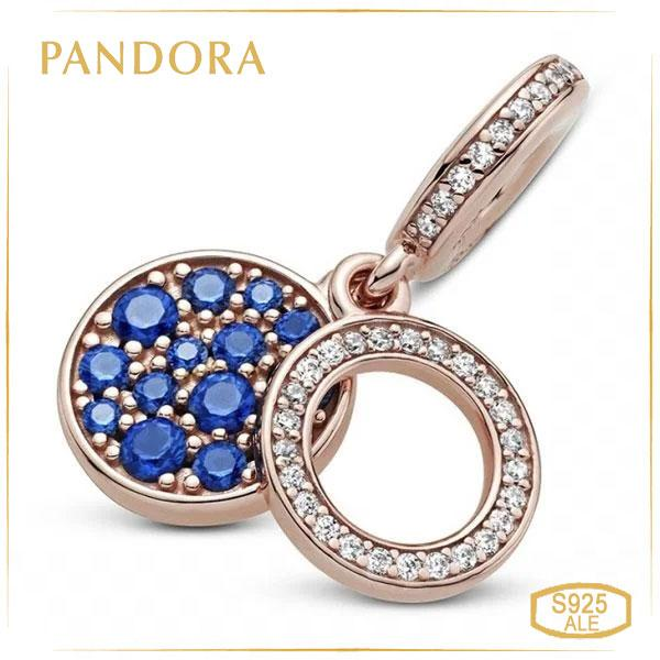 Пандора Кулон Яркий синий диск Rose Pandora 789186C01