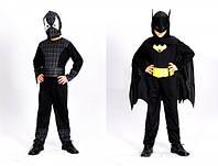 Карнавальный костюм Спайдермен супермен 2в1 черный