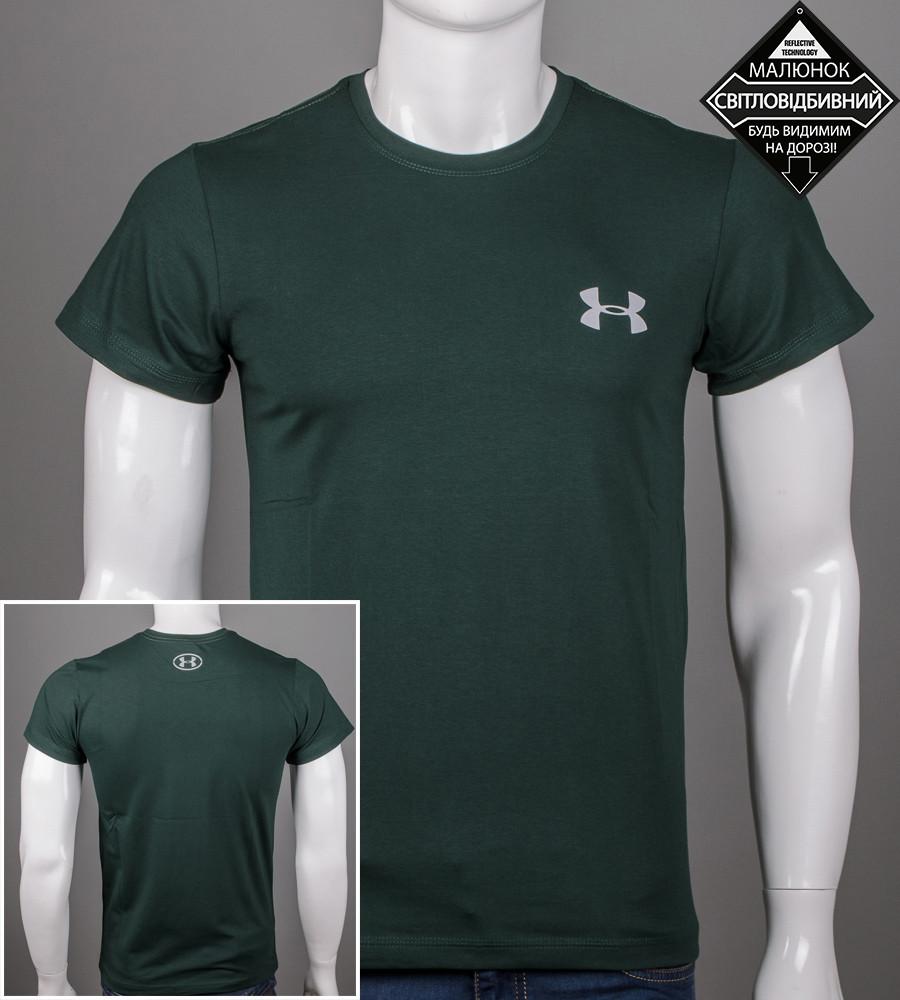Футболка мужская светоотражающая Under Armour (0926м), Т.Зеленый