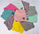 """М 93549. Шапка трикотажная  для девочки """"R"""" от 6 месяцев до 6 лет, разные цвета, фото 10"""