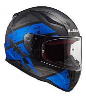 Мото Шлем Интеграл LS2 FF353 RAPID Dead bolt синий