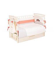 Комплект постельного белья для детской кроватки, Putti Baby Bird 6 эл., детский текстиль