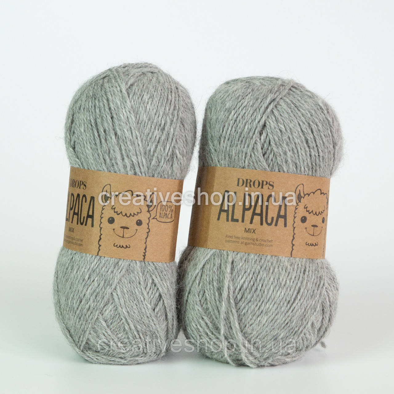 Пряжа Drops Alpaca Mix (цвет  501 light grey)