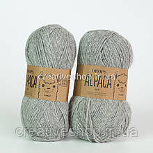 Пряжа Drops Alpaca Mix (колір 501 light grey)
