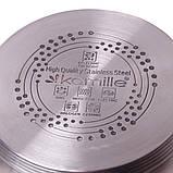 Набір посуду Kamille з нержавіючої сталі 8 предметів для індукції, фото 5