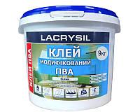 Клей винил-ацетатный LACRYSIL ПВА контактный 9кг