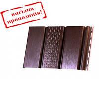 Подшива, софит панель перфорированная RainWay 300/3000мм (0,9 м²) коричневая