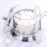 Сахарница 200мл из стекла и нержавеющей стали Kamille KM-7007, фото 6