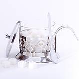 Сахарница 200мл из стекла и нержавеющей стали Kamille KM-7007, фото 7