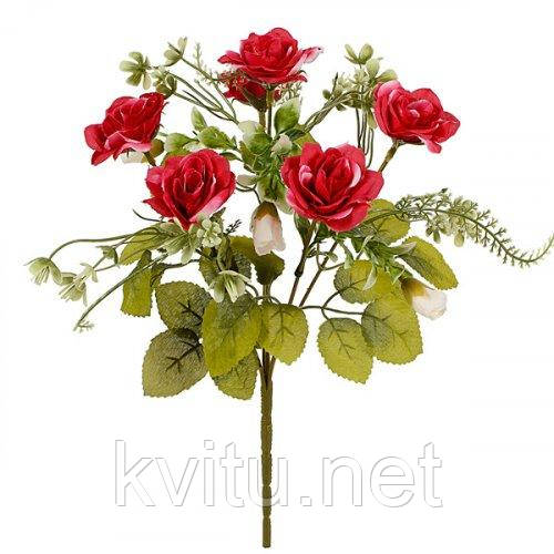 Искусственные цветы букет розы декоративные с бутончиками, 31см