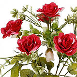 Искусственные цветы букет розы декоративные с бутончиками, 31см, фото 2